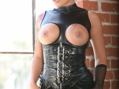 Edgy girl poses with tits outs and kinky - XXXonXXX - Pic 1