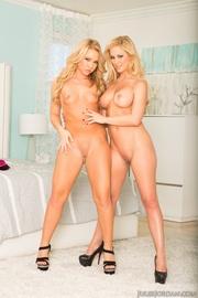 two blonde ladies get