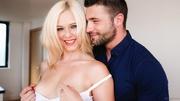pretty blonde white negligee