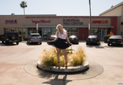 blonde jezebel black skirt