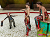 Babes with perfect bodies dominate a small-dicked circus clown in the