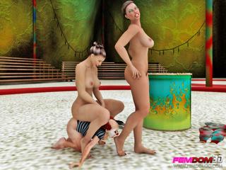 Busty women take advantage of a weak clown as a - Picture 2