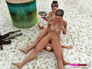 Busty women take advantage of a weak clown as a - Picture 5