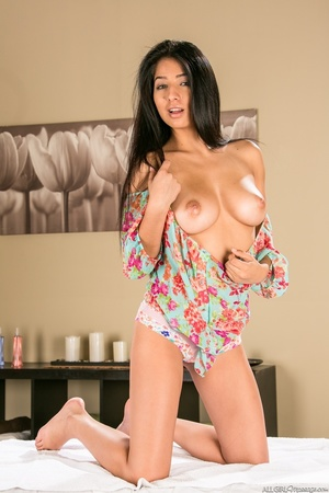 This busty brunette, slut, strips down and poses for the camera - XXXonXXX - Pic 3