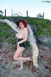 classy redheaded slut wearing