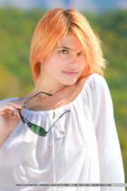 exquisite orange blonde white