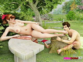 Beautiful country chick forces a man to pleasure her - Picture 2