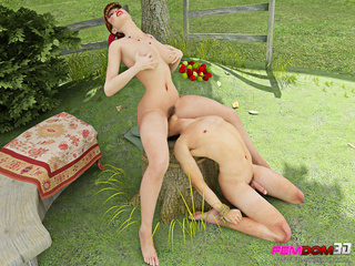 Beautiful country chick forces a man to pleasure her - Picture 4