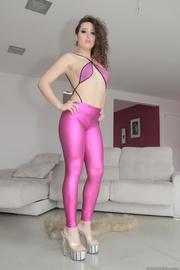 stunning hottie takes pink
