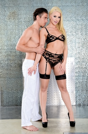 Blonde bombshell teases a hunk dude with - XXX Dessert - Picture 5