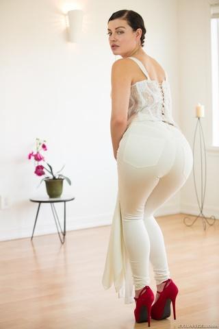 luscious babe takes white