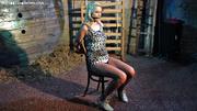 blonde leopard spotted dress