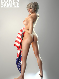 Gorgeous blonde 3d toon model posing with - Picture 2