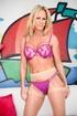 blonde milf matching pink