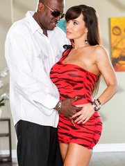 Brunette MILF wears a tight red dress and poses - XXXonXXX - Pic 2