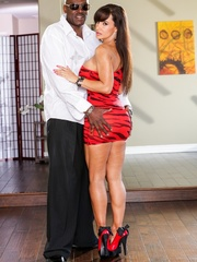 Brunette MILF wears a tight red dress and poses - XXXonXXX - Pic 6