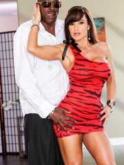 Brunette MILF wears a tight red dress and poses - XXXonXXX - Pic 9