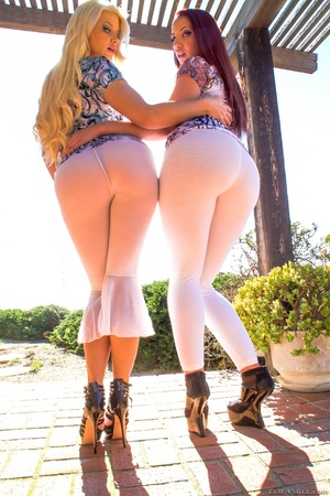 Blonde and her redhead gal showing their - XXX Dessert - Picture 7