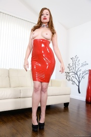 ginger gal red latex
