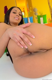 exotic latina brunette wears
