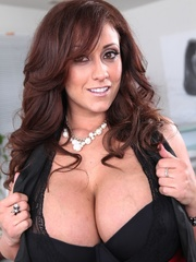 Exotic brunette with saggy tits taking off her - XXXonXXX - Pic 11