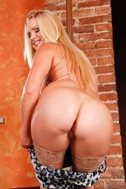blonde stripper's black and
