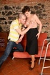 Short-haired mature dame is elated to get some action from a younger man.
