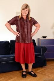 big red skirt comes