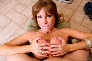 freckled redheaded cougar white