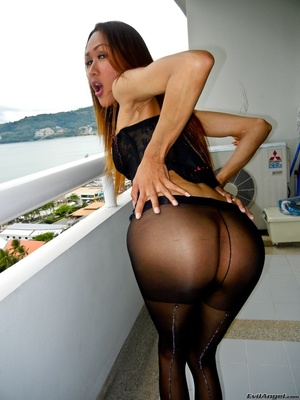 A hot asian slut dressed in all black shows off her smoking hot body - XXXonXXX - Pic 6