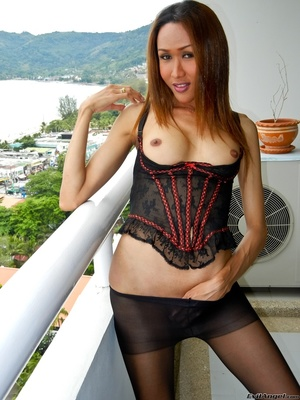 A hot asian slut dressed in all black shows off her smoking hot body - XXXonXXX - Pic 13