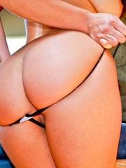 A hot slut in pink panties and big tits sticks a - XXXonXXX - Pic 2