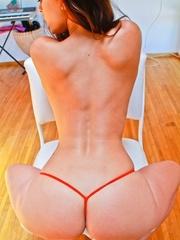A hot slut in pink panties and big tits sticks a - XXXonXXX - Pic 9