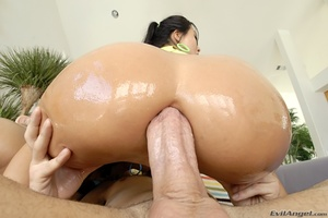 These two sluts suck cock before taking loads on their face and ass - XXXonXXX - Pic 5