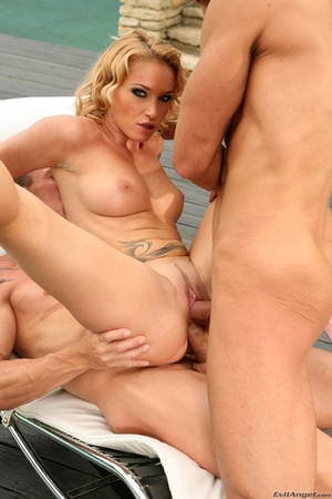This blonde slut gets all her holes filled with cock bareback - XXXonXXX - Pic 12