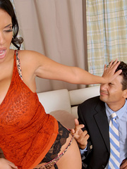 Cuckold husband is made to watch as wife fucks a - XXXonXXX - Pic 5