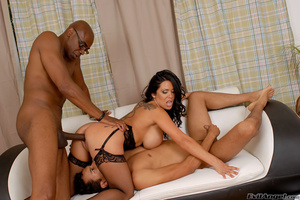Cuckold husband is made to watch as wife fucks a big black cock on the couch and makes him taste cum - XXXonXXX - Pic 10