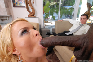 Pretty blonde wife with big tits loves to get fucked by a black construction guy while husbands watches - XXXonXXX - Pic 5