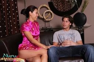 Asian masseuse makes a guy happy by sucking his hard schlong - XXXonXXX - Pic 3