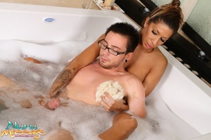 Stunning masseuse with lots of tattoos gets her fanni fucked hard - XXXonXXX - Pic 5
