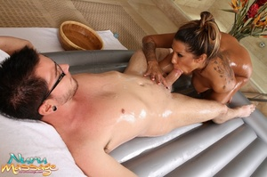 Stunning masseuse with lots of tattoos gets her fanni fucked hard - XXXonXXX - Pic 11