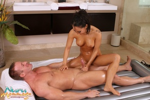 Naughty Asian masseuse with amazing body seen enjoying oral sex with a horny guy - XXXonXXX - Pic 13
