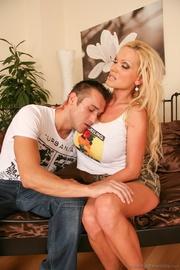 blonde white top camo