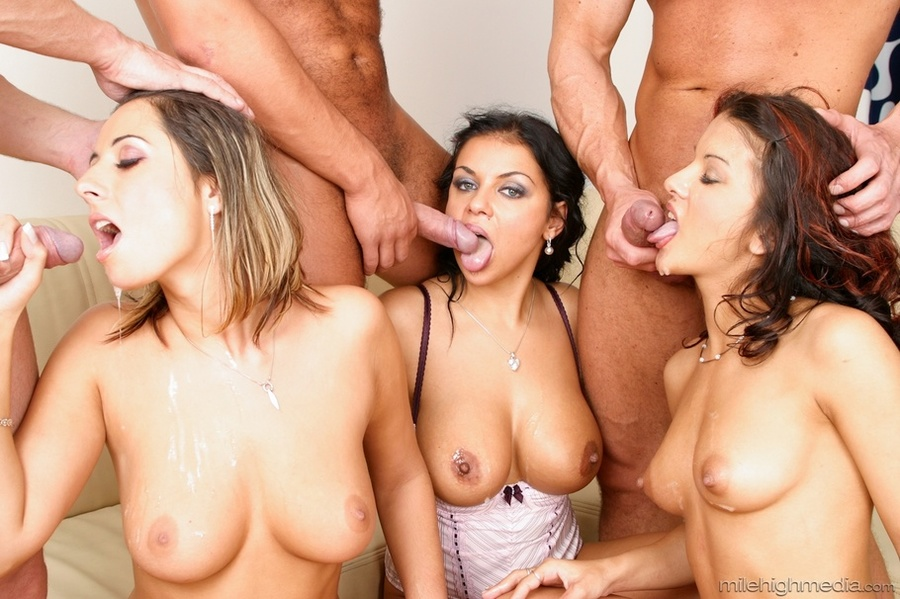 Three horny couples spice up their sex life in a nasty sex orgy after party  -