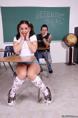 Bright-eyed school girl slut takes down  - XXX Dessert - Picture 1