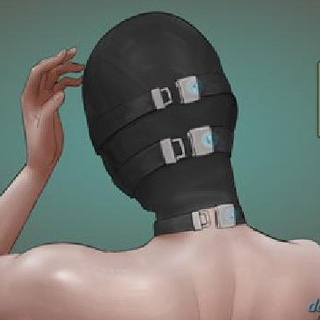 Submissive in a black mask feels - BDSM Art Collection - Pic 2