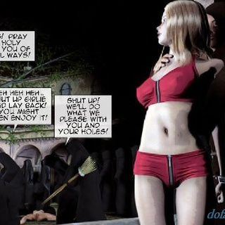Chick in an immodest red ensemble is - BDSM Art Collection - Pic 2