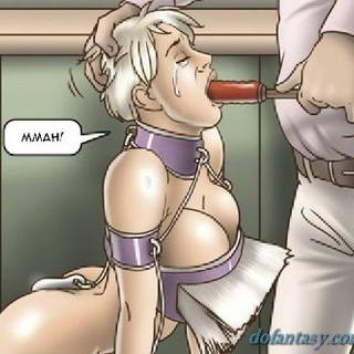 Submissive in purple shackles is made - BDSM Art Collection - Pic 2