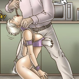 Submissive in purple shackles is made - BDSM Art Collection - Pic 3