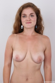 curly haired brunette with